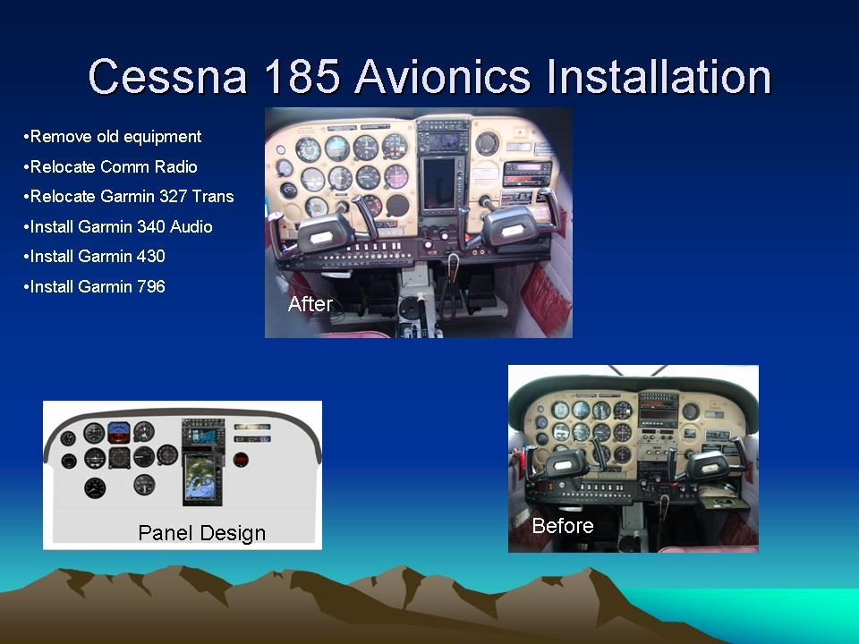Cessna 185 Avionics Installation